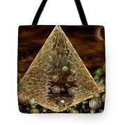 Alien Pyramid Tote Bag by Peggi Wolfe