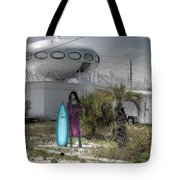 Alien Space Ship House Florida Architecture Tote Bag