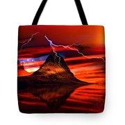 Alien Sunrise Tote Bag