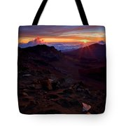 Alien Sunrise Tote Bag