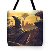 Alien Territory Tote Bag