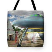Alien Vacation - Gasoline Stop Tote Bag