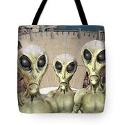 Alien Vacation - Hoover Dam Tote Bag