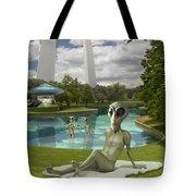 Alien Vacation - St. Louis Tote Bag
