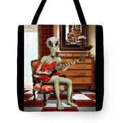 Alien Vacation - We Roll With Jazz Tote Bag