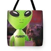 Alien's Best Friend Tote Bag