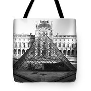 Aligned Pyramids At The Louvre Tote Bag