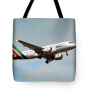 Alitalia Airbus A319-112 Tote Bag
