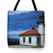 Alki Point Light Tote Bag