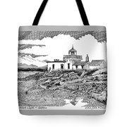 Alki Point Lighthouse Seattle Tote Bag