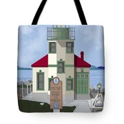 Alki Point On Elliott Bay Tote Bag