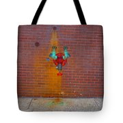 All Alone Red Pipe Tote Bag