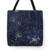 All Around In Blue And Black Tote Bag