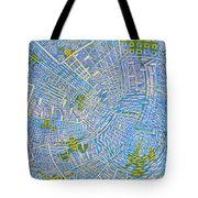 All Around In Light-blue Tote Bag