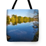 All Is Quiet On The River Tote Bag
