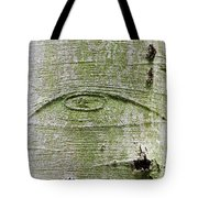 All-seeing Eye Of God On A Tree Bark Tote Bag