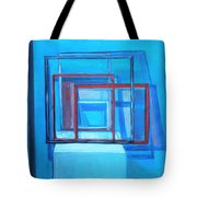 All Square And Blue Tote Bag