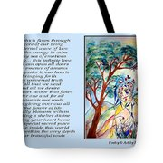 All That I Need - Poetry In Art Tote Bag