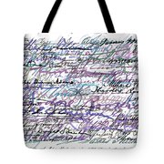 All The Presidents Signatures Blue Rose Tote Bag