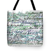 All The Presidents Signatures Teal Blue Tote Bag