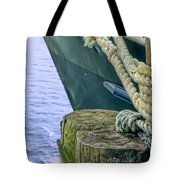 All Tied Up In Port Jefferson No 1 Tote Bag