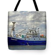 Cloudy Day On The Marina Tote Bag