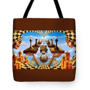 Allegory Of Chess. Equal Exchange Tote Bag