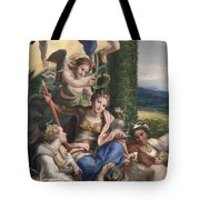 Allegory Of The Virtues Tote Bag