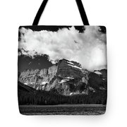 Allen Mountain Towers Over Swift Current Lake Tote Bag
