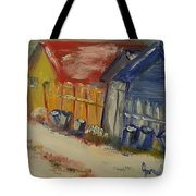 Alley In Winter  Tote Bag by Steve Jorde