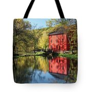 Alley Spring Mill Reflection Tote Bag