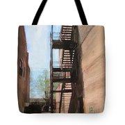 Alley W Fire Escape Tote Bag