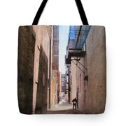 Alley W Guy Reading Tote Bag