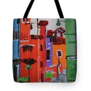 Alley Walk Tote Bag by Kim Nelson