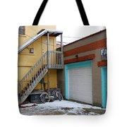 Alleyway Bike Tote Bag