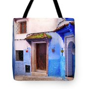 Alleyway In The Blue City Tote Bag