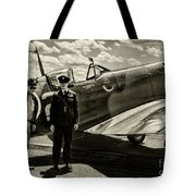 Allied Pilots Taking Stock Tote Bag