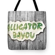 Alligator Bayou Tote Bag by Scott Pellegrin