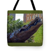 Alligator Statue 4 Tote Bag