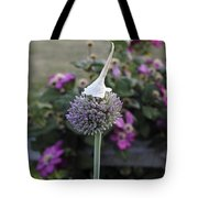 Allium Blossom With Cap Tote Bag