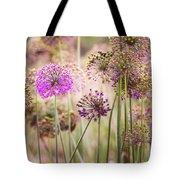 Allium Flowers Tote Bag