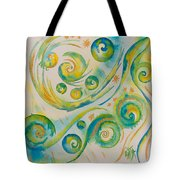 Allowing The Movement And Accepting Playful Dance. Tote Bag