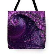 Alluring Purple Spiral Tote Bag