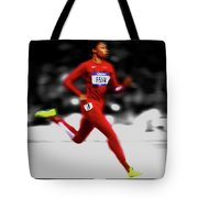 Allyson Felix Ahead Of The Pack Tote Bag