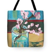 Almond Blossoms In A Glass Tote Bag