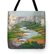 Almond Orchard In Bloom Tote Bag