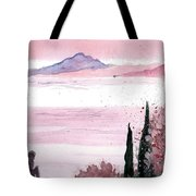 Almond Tree By The Sea Tote Bag
