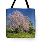 Almond Tree In Meadow Tote Bag