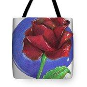 Almost Black Rose Tote Bag