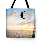 Aloft Into The Amber Skies Tote Bag